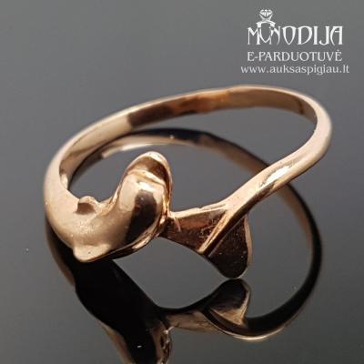 Auksinis žiedas delfinas