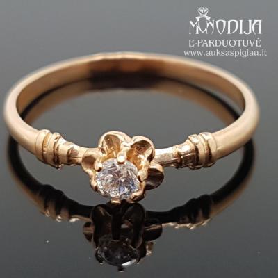 Auksinis žiedas gėlytė