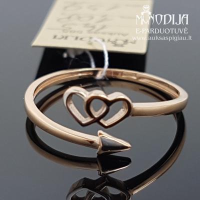 Auksinis žiedas širdelė