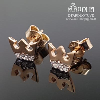 Auksiniai auskarai karūnos