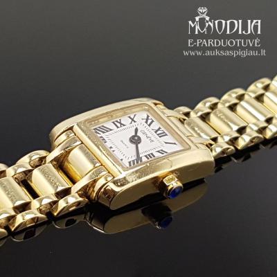 Auksinis laikrodis Geneve su safyru