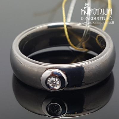 Keramikos žiedas su briliantais