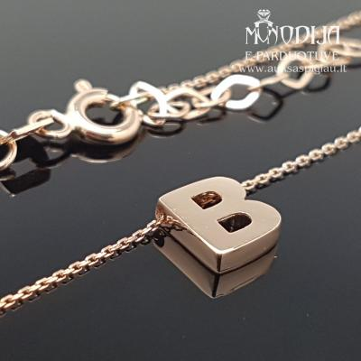 Auksinė grandinėlė su B raidele