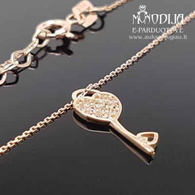 Auksinė grandinėlė su rakteliu