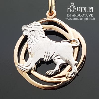 Auksinis pakabukas Liūtas