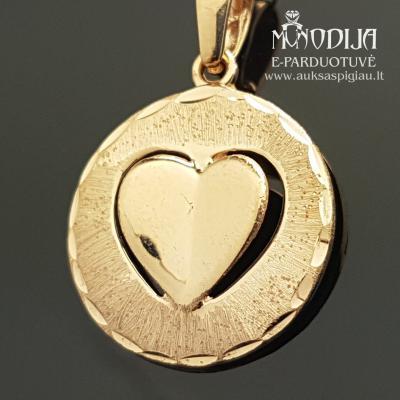Auksinis pakabukas Širdelė