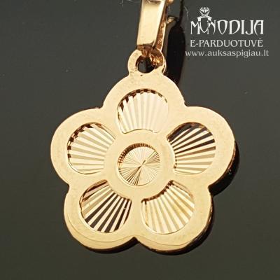 Auksinis pakabukas Gėlė
