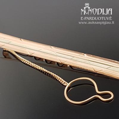 Auksinis kaklaraiščio segtukas
