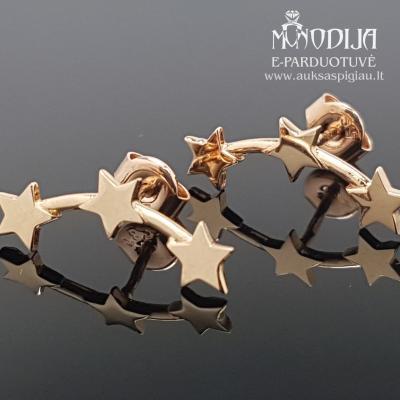 Auksiniai auskarai Žvaigždutės