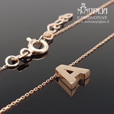 Auksinė grandinėlė su raidele A