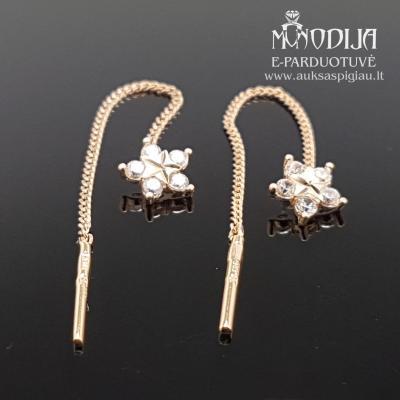 Auksiniai auskarai gėlytės