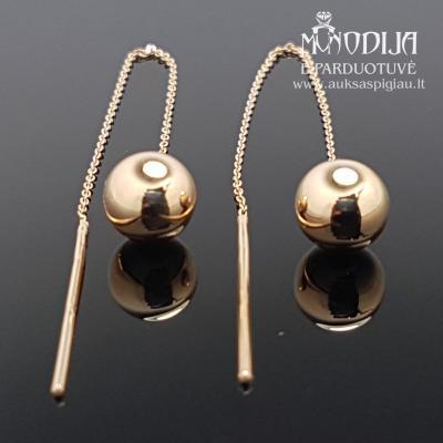 Auksiniai auskarai burbulai