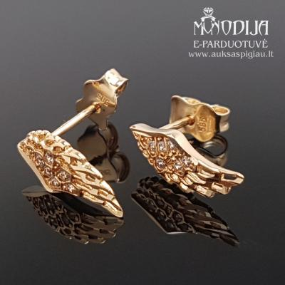 Auksiniai auskarai Sparnai