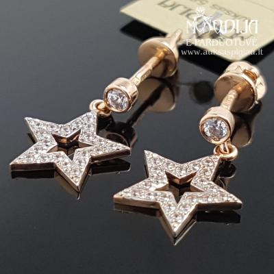 Auksiniai auskarai su žvaigždutėmis