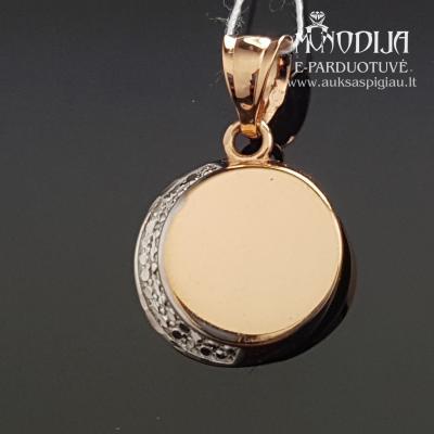 Auksinis pakabukas su baltu auksu