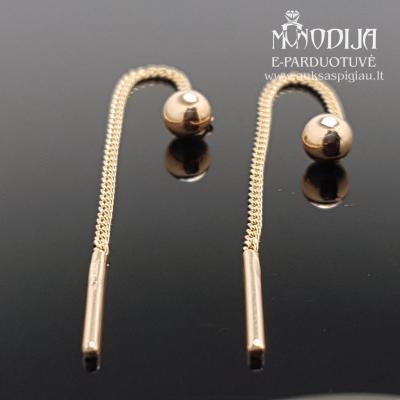 Auksiniai auskarai su burbuliukais
