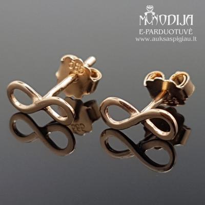 Auksiniai auskarai Begalybės